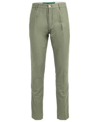 Pantalon slim en coton et lin Sirmione HAND PICKED