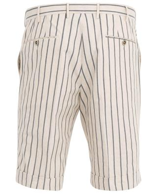 Striped cotton and linen Bermuda shorts PT01