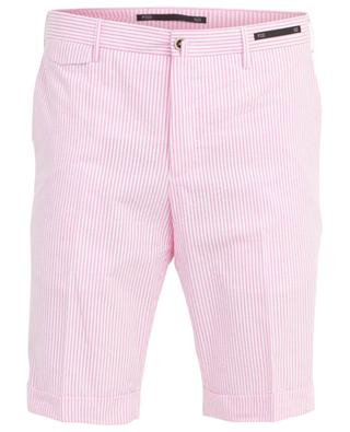 Striped seersucker Bermuda shorts PT01