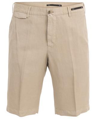 Lyocell, linen and cotton Bermuda shorts PT01