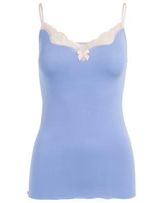 Lisa modal blend lace adorned camisole BLUE LEMON