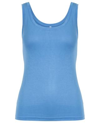 Silky Top fluid tank top BLUE LEMON