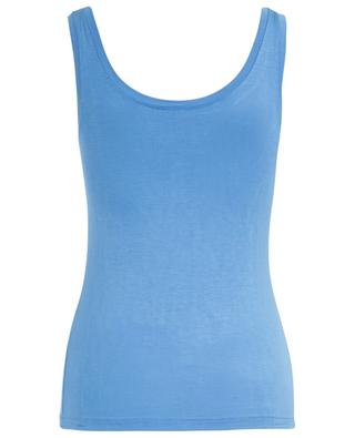 Silky Top fluid tank top BLUE LEMON