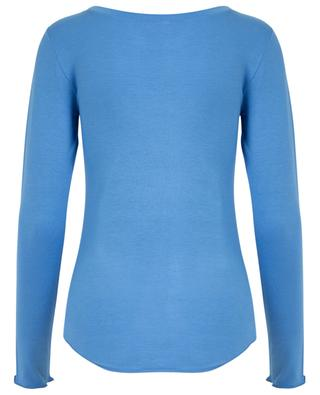Long-sleeved T-shirt with boat collar BLUE LEMON