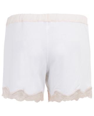 Shorts aus Modalmix mit Spitze BLUE LEMON
