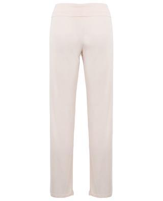 Foldover modal blend trousers BLUE LEMON