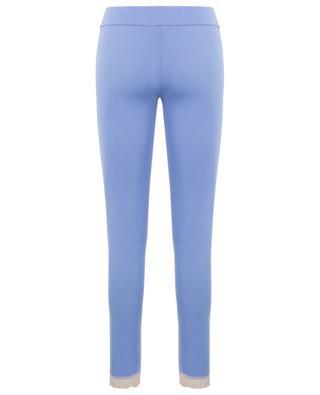 Leggings aus Modal mit Spitze BLUE LEMON