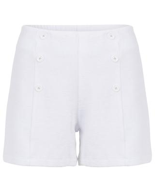 High waist terry cloth shorts BLUE LEMON