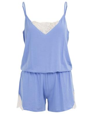 Modal and lace adorned rompers BLUE LEMON