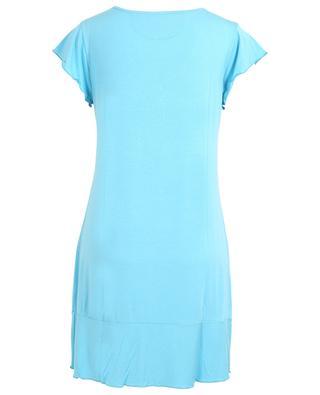 Angels Nighty modal sleeveless night shirt BLUE LEMON