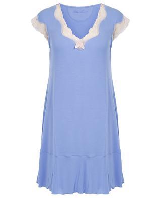 Angels modal and lace adorned night shirt BLUE LEMON