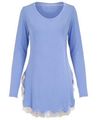 Nachthemd aus Modal und Spitze Lisa BLUE LEMON