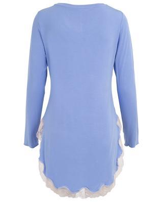 Lisa modal and lace night dress BLUE LEMON