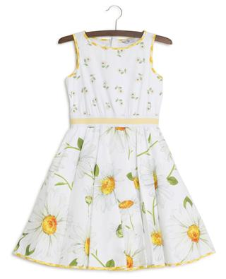 Daisy print sleeveless dress MONNALISA