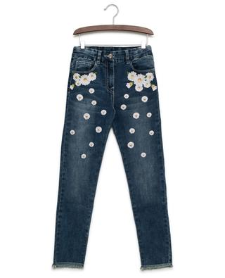 Daisy embroidered jeans MONNALISA