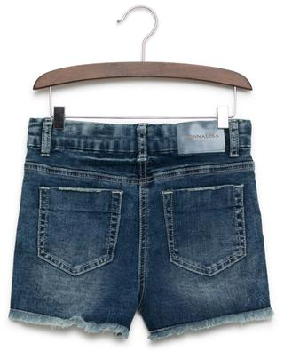 Daisy embroidered jeans shorts MONNALISA