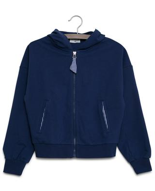 I Love Daisy strass embellished sweat jacket MONNALISA