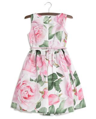 Ärmelloses Kleid mit Rosenprint MONNALISA