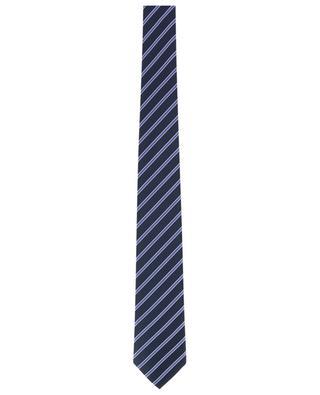 Silk blend striped tie DAL LAGO