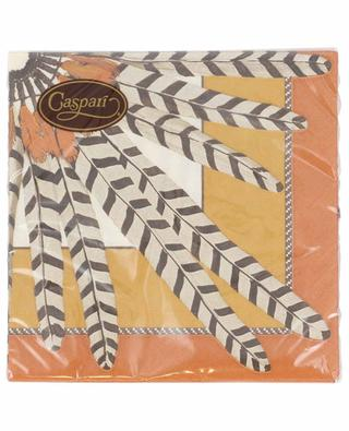 Plumes du Brazil Luncheon table napkins CASPARI
