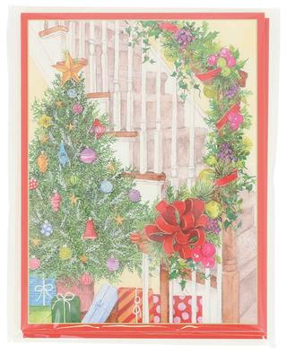 Becky's Staircase five Christmas cards CASPARI