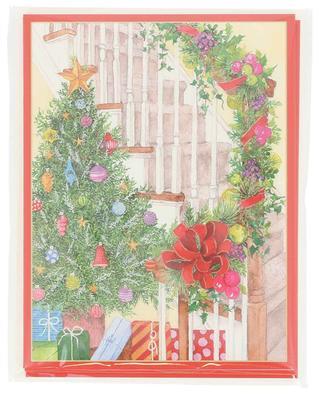 Becky's Staircase five Christmas cards CASPARI