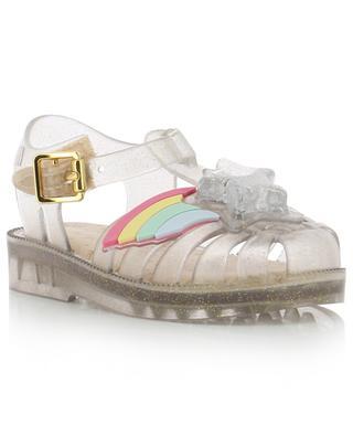 Mini Melissa Possession II glitter PVC sandals with star MELISSA