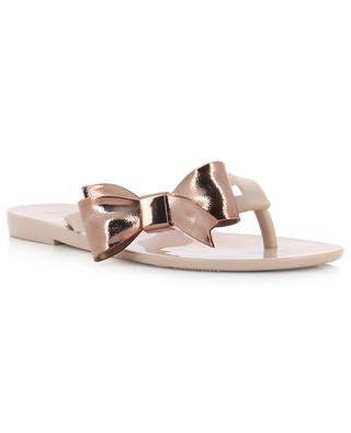 Mel Harmonic Celebration PVC flip-flops with bow MELISSA
