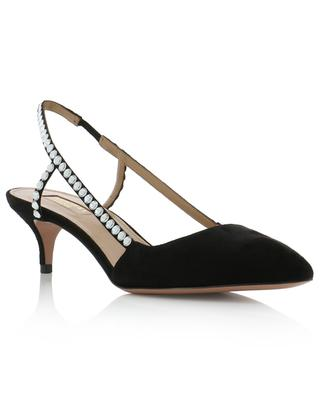 Crystal Shiny 45 crystal clad slingback pumps AQUAZZURA