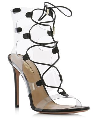 Milos 105 nappa leather and PVC sandals AQUAZZURA