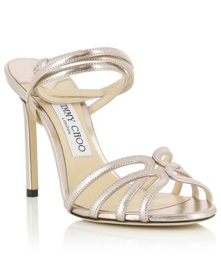 Wickel-Sandalen aus Metallic-Leder Mimi 10 JIMMY CHOO