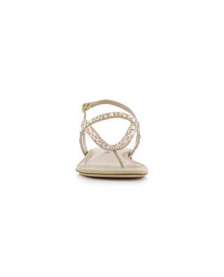 Flache Sandalen mit Kristallen Allura STUART WEITZMAN