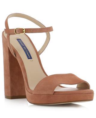 Sandales à talon et plateau en daim Sunray STUART WEITZMAN