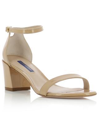 Sandalen aus Lackleder mit Blockabsatz Simple STUART WEITZMAN