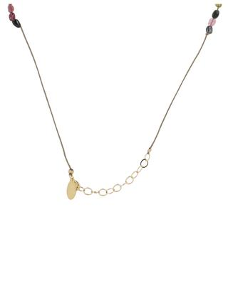 Planete tourmaline cord necklace BY JOHANNE