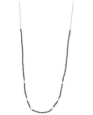 Collier sur corde avec spinelles noires NY Tattoo BY JOHANNE