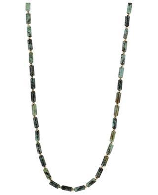 Kordel-Halskette mit Türkisen BY JOHANNE