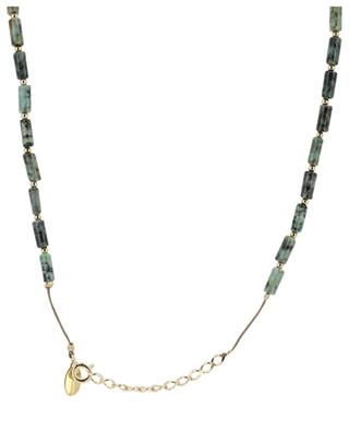 Turquoise embellished cord necklace BY JOHANNE