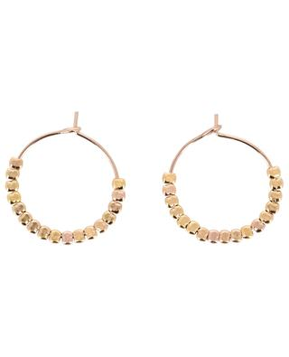 Tropical Vibes 2 cm pink gold platec hoop earrings BY JOHANNE