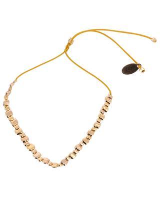 Kordelarmband mit 41 goldenen Perlen Tan Lines BY JOHANNE