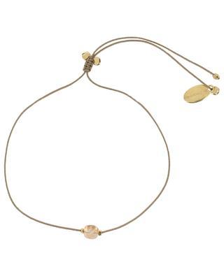 Tourmaline Carrée cord bracelet BY JOHANNE