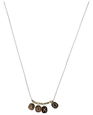 Kordel-Halskette mit Slogan Alphabet City BY JOHANNE