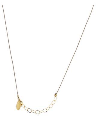 Alphabet City symbol cord necklace BY JOHANNE