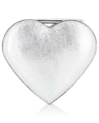 Silver leather heart-shaped bag GIANNI CHIARINI
