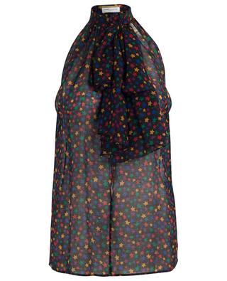 Ärmellose Bluse aus Wolle YSL Stars SAINT LAURENT PARIS