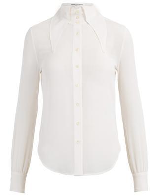 Hemd aus Seidengeorgette mit spitzem Oversize-Kragen SAINT LAURENT PARIS