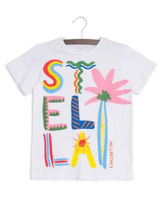 T-Shirt mit Print Stella Logo Palm STELLA MCCARTNEY