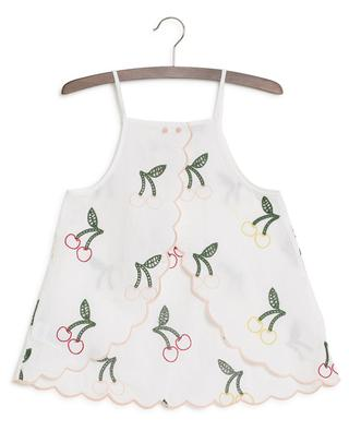 Cherry embroidered strappy top STELLA MCCARTNEY