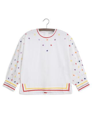 Multicolour Stars embroidered blouse STELLA MCCARTNEY