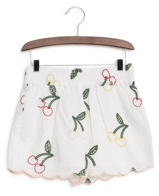 Short en lin et coton brodé Cherry STELLA MCCARTNEY